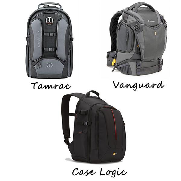 Mejores Marcas mochilas fotográficas (Tamrac, Vanguard, Case Logic)