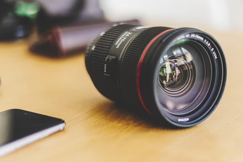 Objetivo camara de fotos